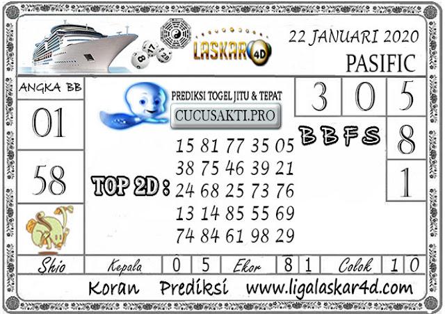 Prediksi Togel PASIFIC LASKAR4D 22 JANUARI 2020