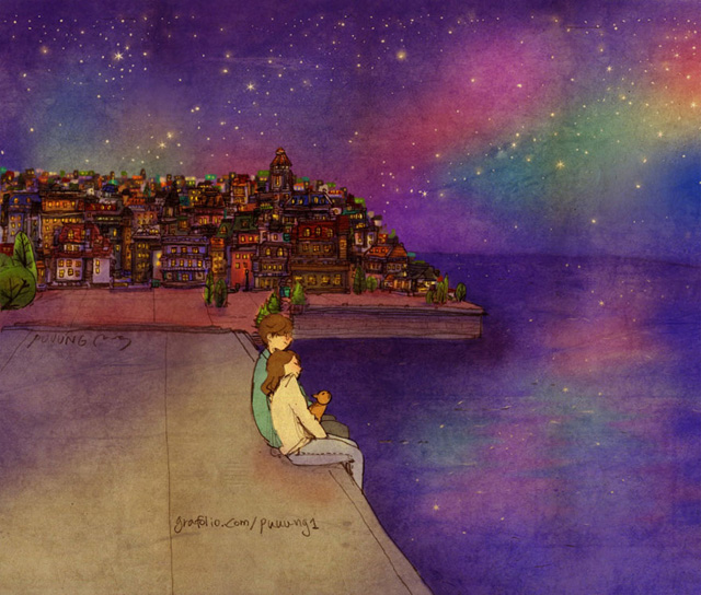Aşk gece denizi seyretmektir