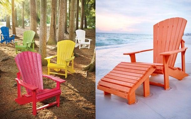 Marzua sillas de pl stico reciclado para el jard n for Sillas de plastico para jardin
