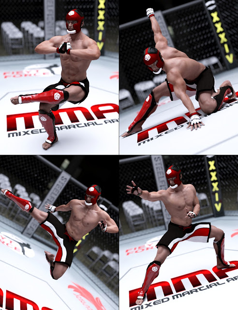 The Art of Fight - Genesis 3 Male Poses