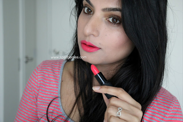 sleek candy cane lipstick on NC 32 skin