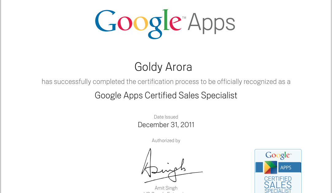 GoldyTips: Google launches Google Apps Certified Sales Specialist ...