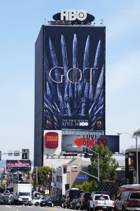 Game of Thrones season 8 dragon billboard
