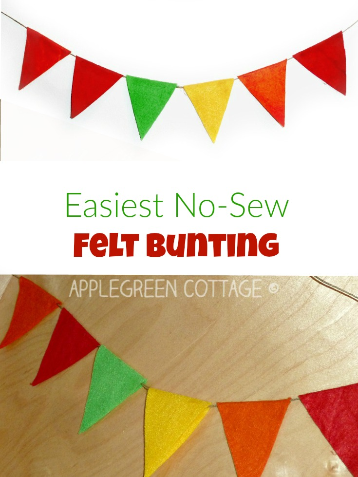 How To Make An Easy No-Sew Felt Bunting
