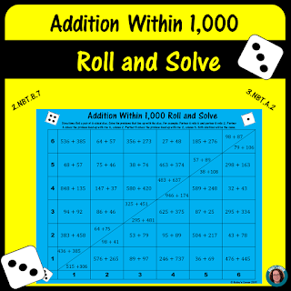 https://www.teacherspayteachers.com/Product/Addition-Within-1000-Roll-and-Solve-Math-Center-4288823