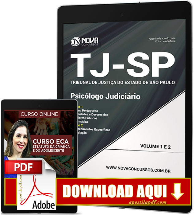 Apostila TJ SP 2017 PDF Download Psicólogo Judiciário