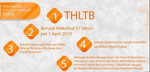 Persyaratan Pendaftaran PPPK 2019 Penyuluh Pertanian (TH Eks K-II)