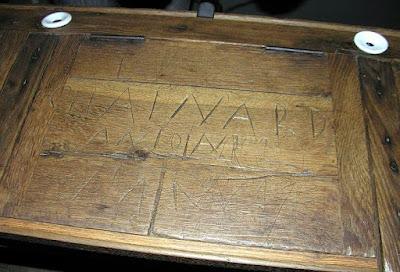 Le pupitre d'Antoine Chaînard au musée