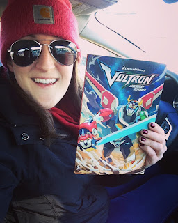 Selfie with Voltron graphic novel