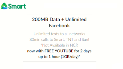 Smart AOC25 Unlimited with 80mins Trinet Calls and 200MB Data for 2 days