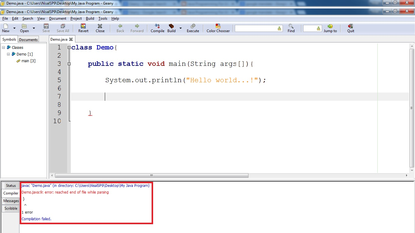 Java Programming For Absolute Beginners: Hello World Program