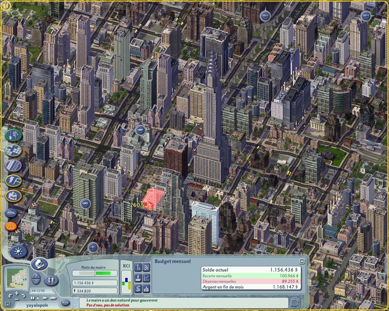 Downloadable sim city.