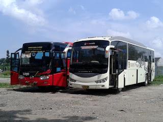 Armada bus Coyo Pekalongan dengan Body Evonext dari Karoseri New Armada