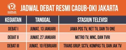 inilah jadwal debat resmi cagub-dki jakarta