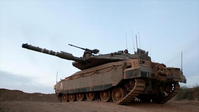 Israel despliega tanques cerca de Gaza ante protestas palestinas