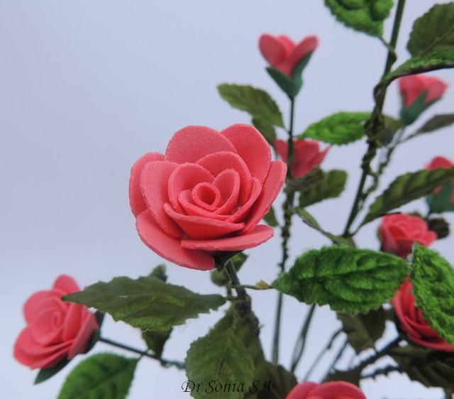 Cards Crafts Kids Projects Handmade Foam Rose Flower Tutorial