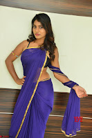 Actress Priya in Blue Saree and Sleevelss Choli at Javed Habib Salon launch ~  Exclusive Galleries 007.jpg