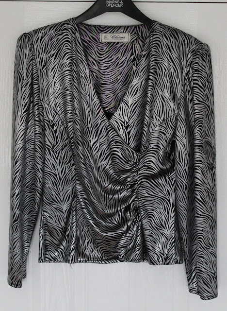 for sale 1980s zebra print evening blouse via lovebirds vintage