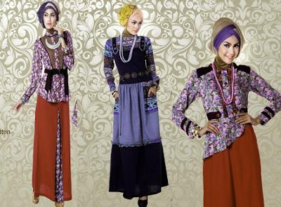 Trend baju batik lebaran model muslim