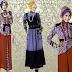 21+ Koleksi Model Baju Muslim Lebaran Kombinasi Batik 2017
