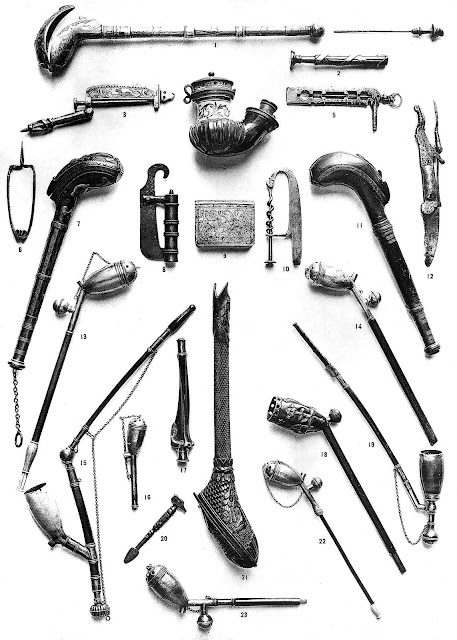 1500s Barber tools, large photograph
