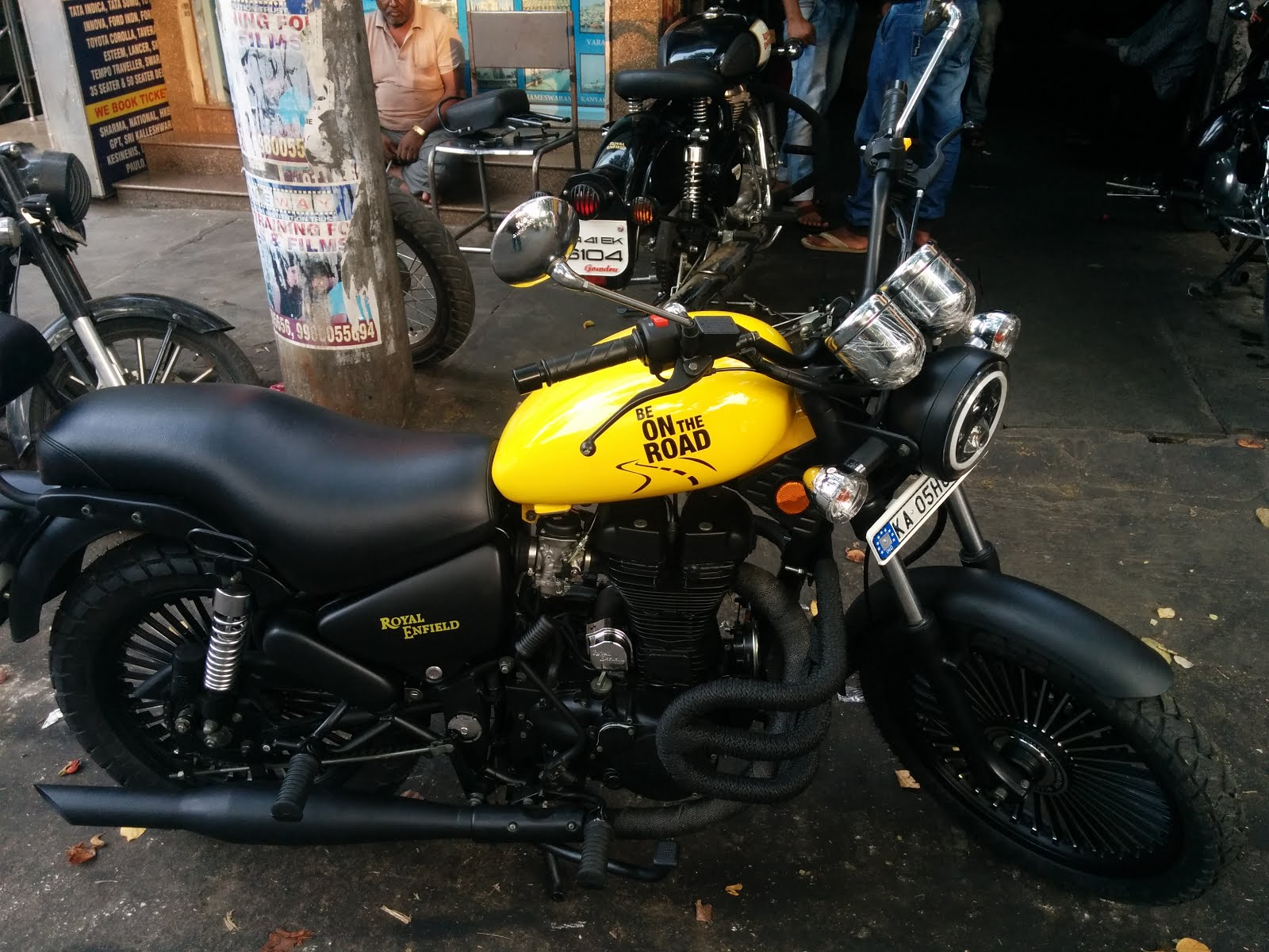 My custom yellow color Royal Enfield motorcycle