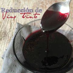 Receta para preparar reducción de vino tinto
