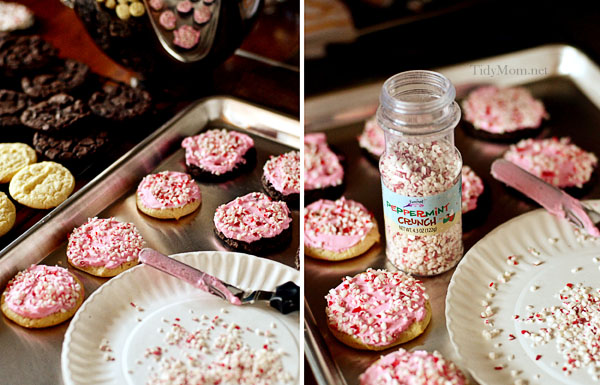 Cake Mix Peppermint Cookies from TidyMom @KatrinasKitchen #BringtheCOOKIES