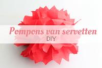 Pompons van servetten - DIY