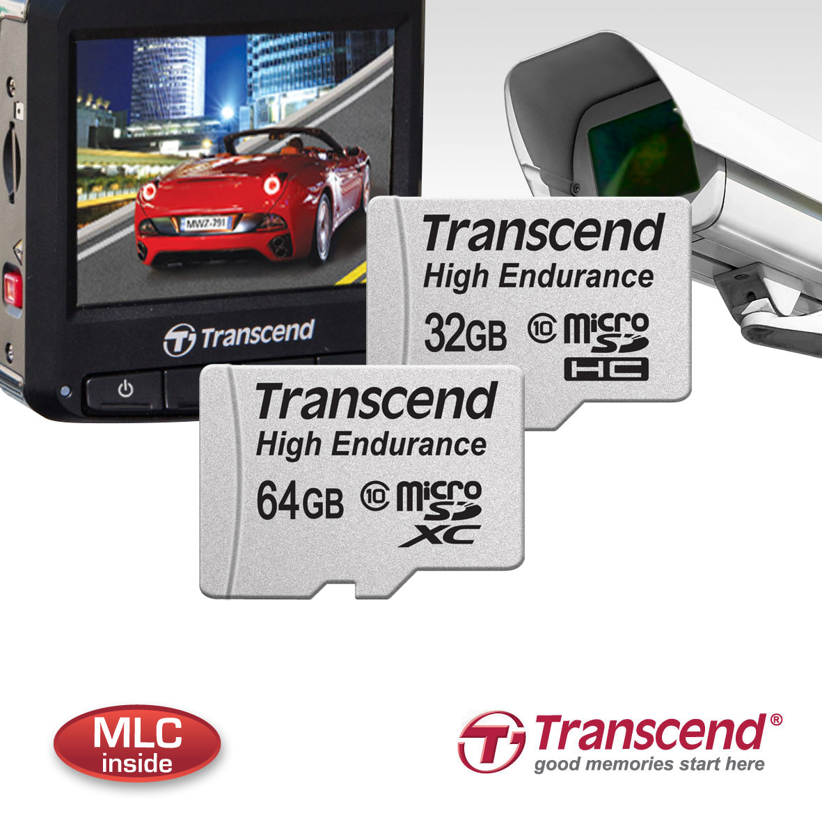Transcend High Endurance microSDHC/SDXC Memory Cards