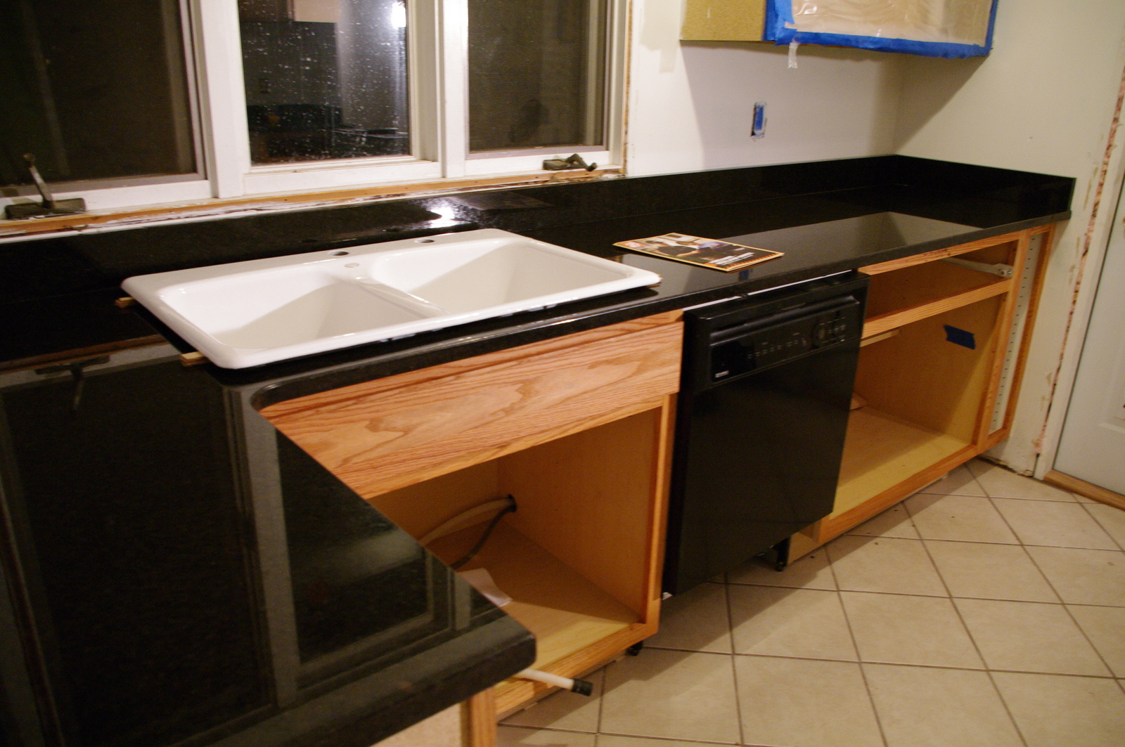 Preparing Cabinets For Granite Countertops The Prairie Street Craftsman New Countertops The Black