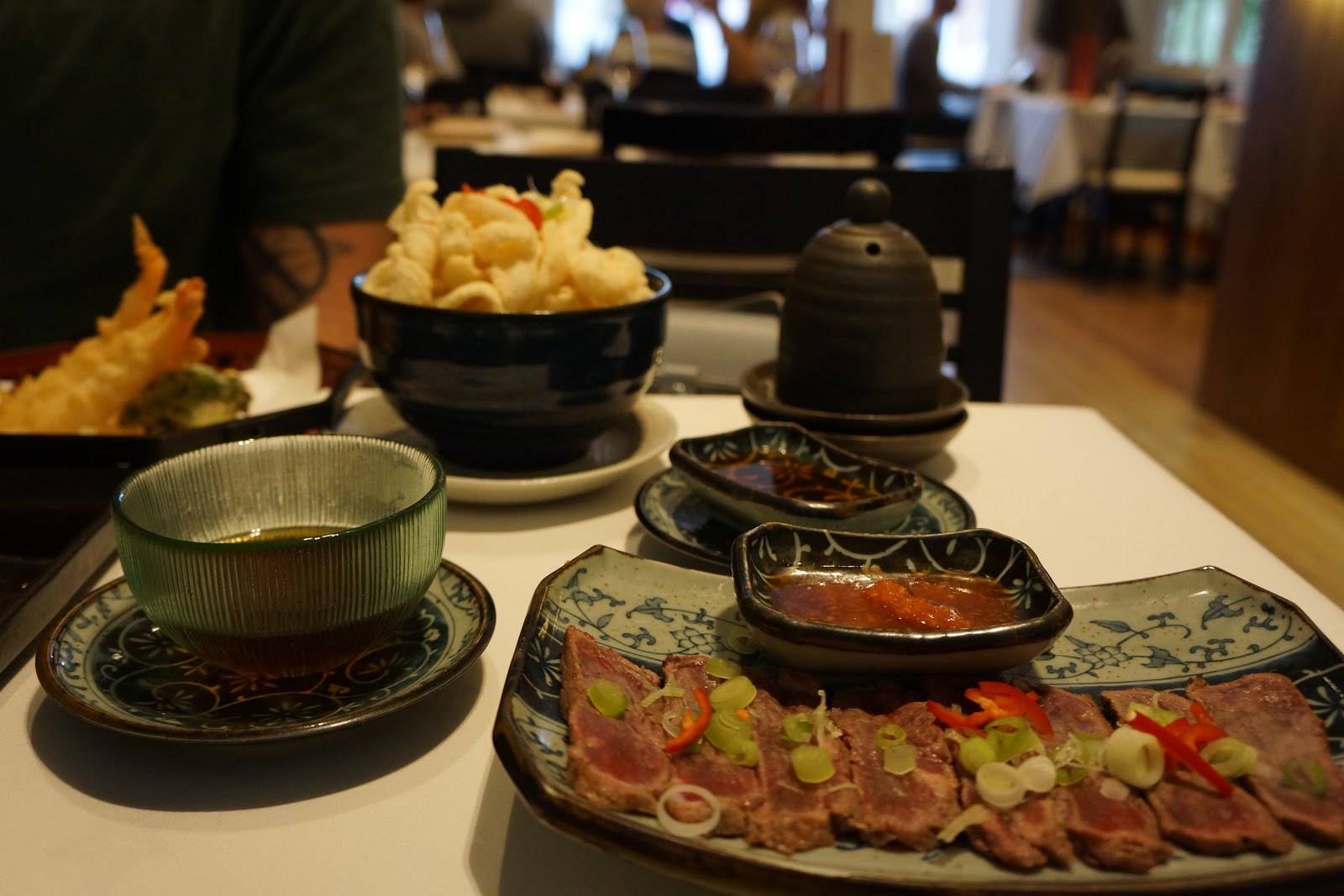 japanese beef carpaccio dish
