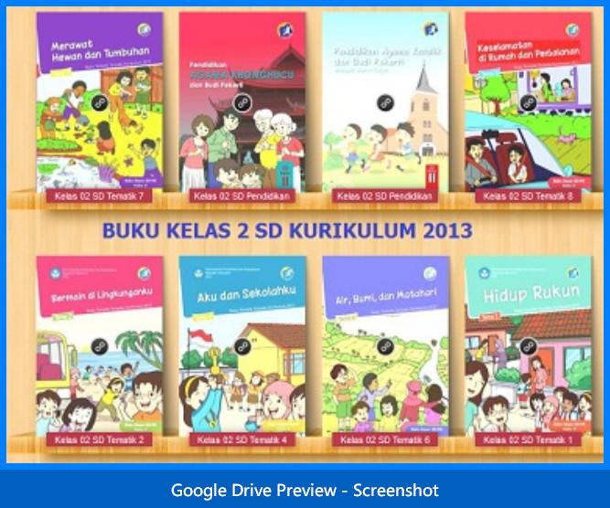 Koleksi Buku Guru dan Siswa Kelas 2 SD Kurikulum 2013
