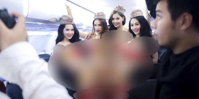 Astagfirullah! Maskapai Pramugari Berbikini ini Siap Terbang ke Indonesia