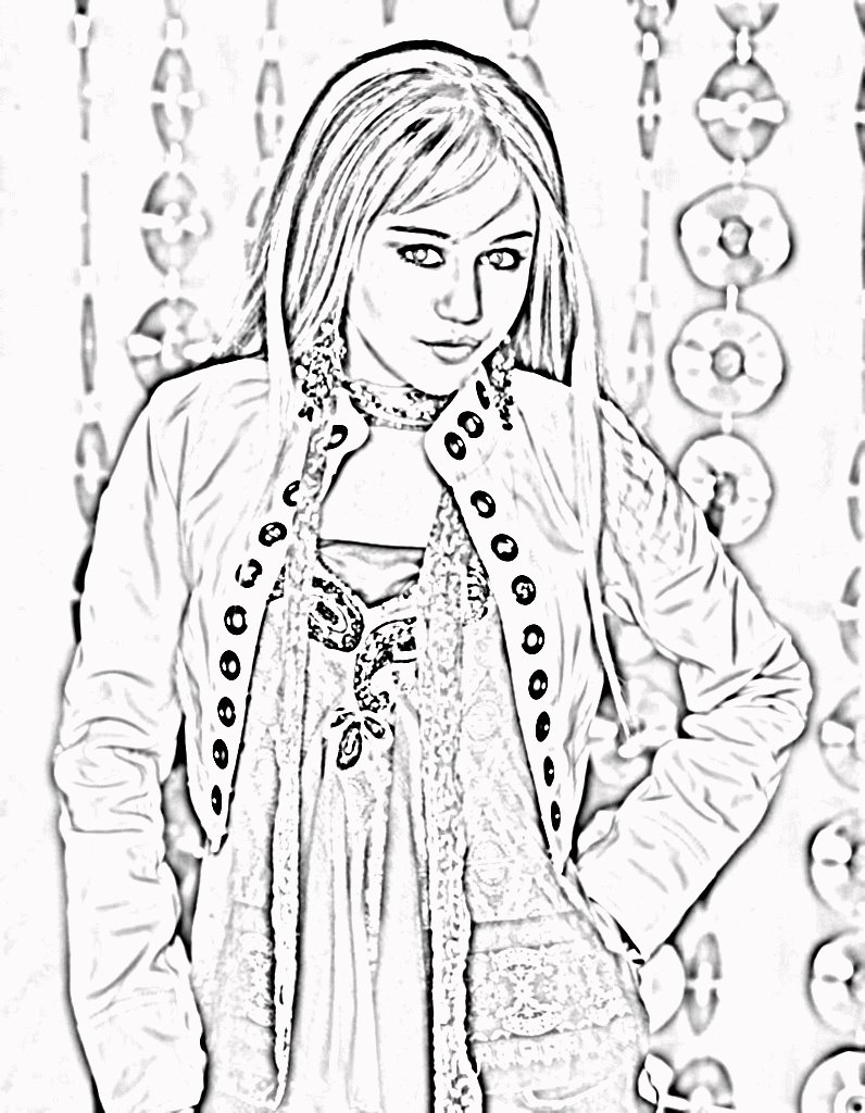 hannah montana halloween coloring pages-#5