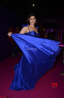 Mannara Chopra in Deep Neck Blue Gown at Zee Telugu Apsara Awards ~  Exclusive 041.jpg
