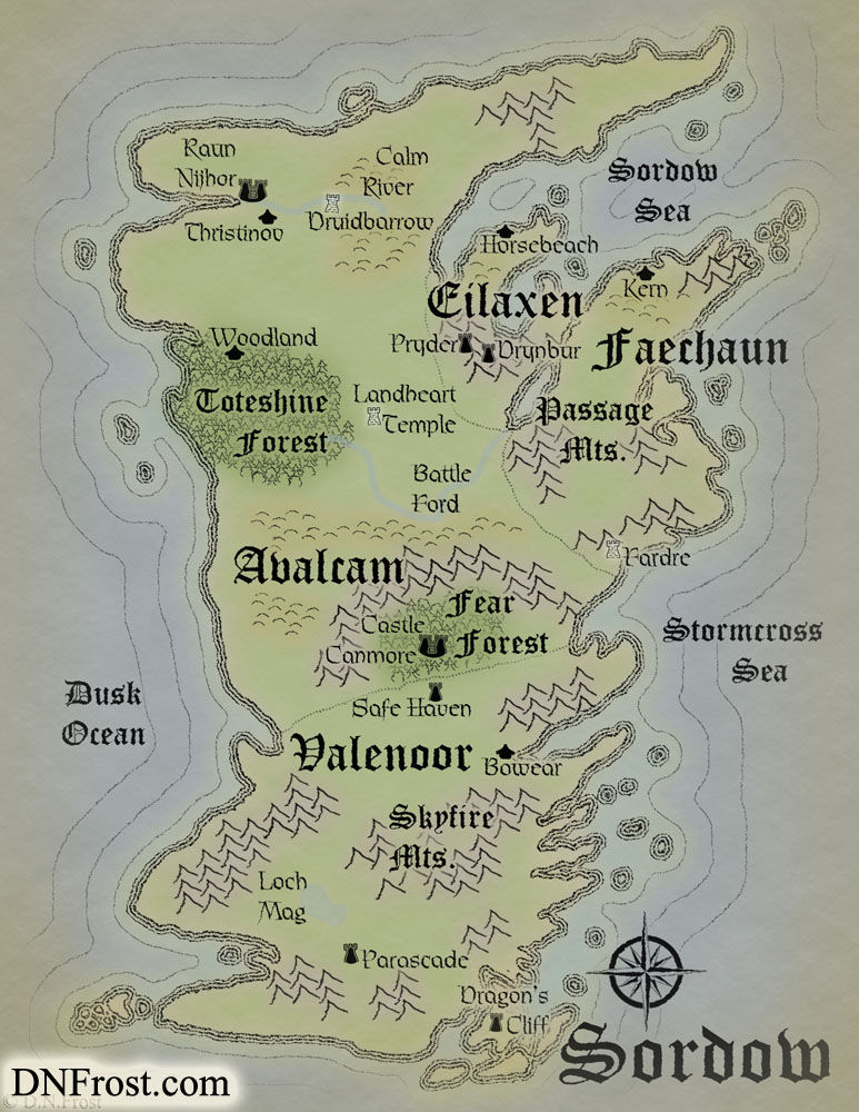 Sordow, a map commission by D.N.Frost for David Glenn http://DNFrost.com/portfolio