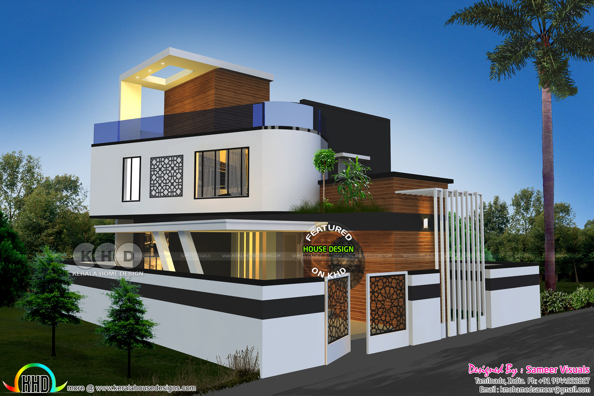 1920 Sq Dt Contemporary Style Tamilnadu House