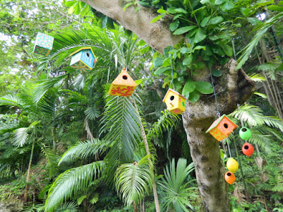 Birdhouses at Orchid World Barbados by garden muses-not another Toronto gardening blog