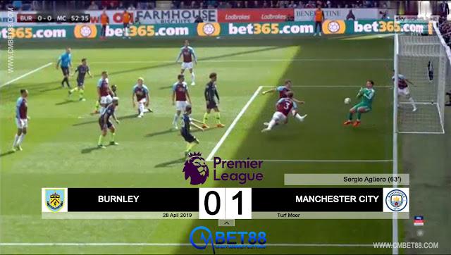 Cuplikan Gol Burnley VS Manchester City Skor Akhir 0-1
