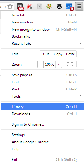 Deleting Browsing History From Chrome Browser