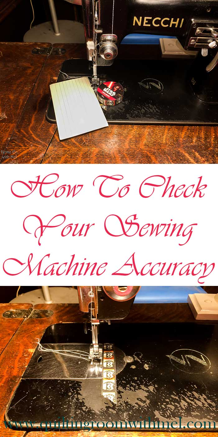how to check sewing machine accuracy