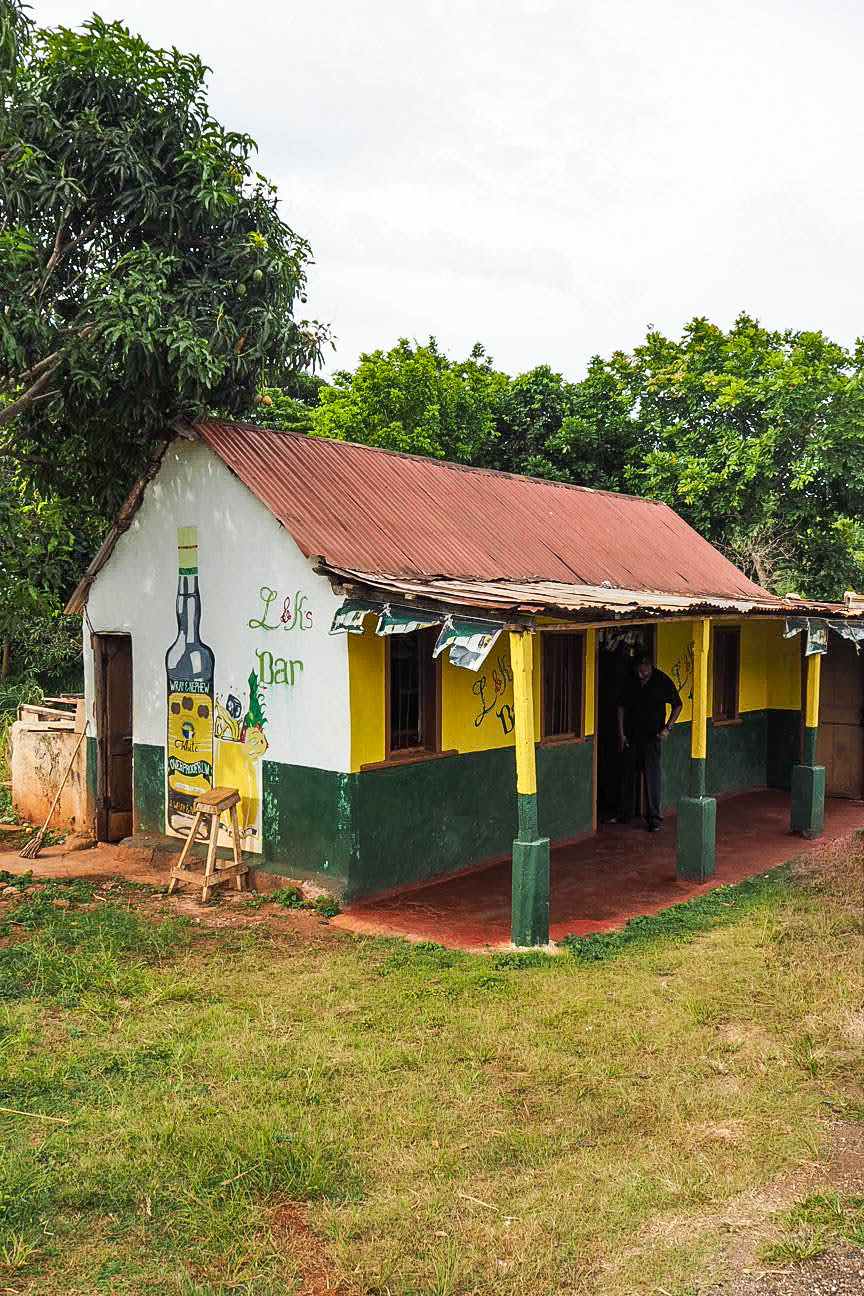 Roadside bar in Jamaica