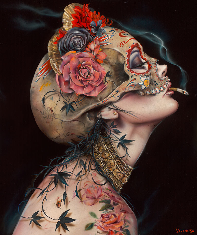 07-Viv-La-Muerte-Brian-M-Viveros-Paintings-of-Femininity-in-the-Eye-of-the-Artist-www-designstack-co
