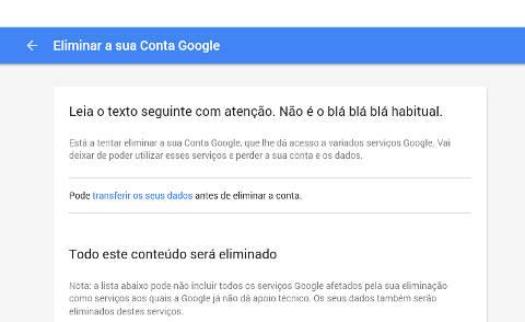 Como excluir uma conta Google