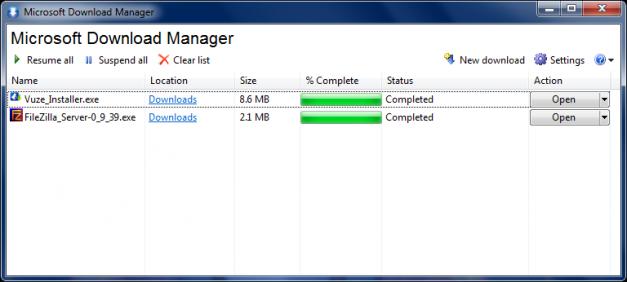 عملاق مايكروسوفت للتحميل Microsoft Download Manager