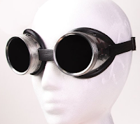 Aluminum Welding Goggles for Steampunk Catwoman cosplay, womens steampunk clothing