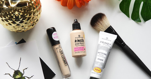 Review: essence Insta Perfect foundation, Healthy Glow concealer & Pore Minimizing primer