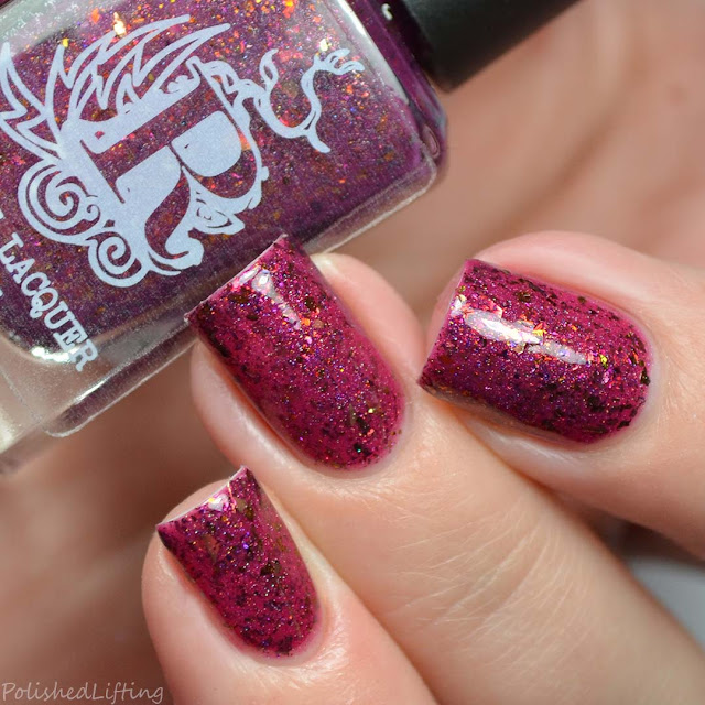 red crelly nail polish