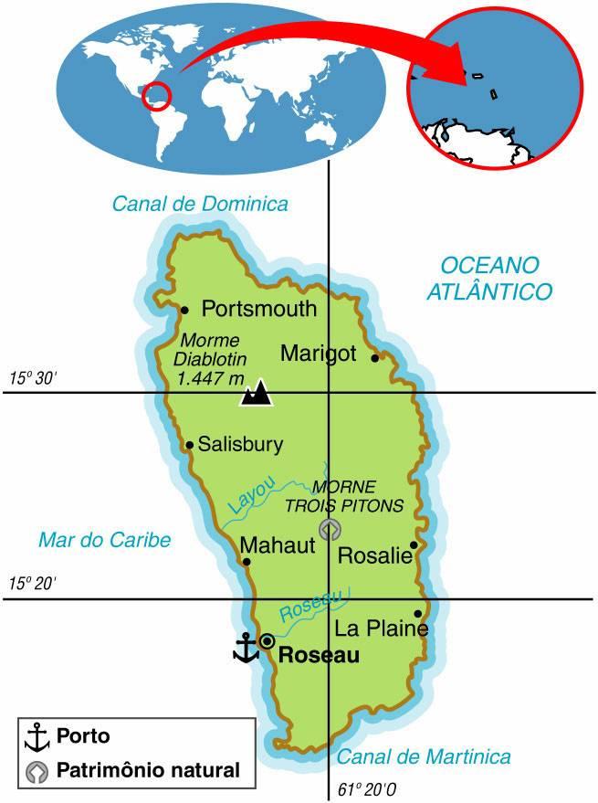 DOMINICA, ASPECTOS GEOGRÁFICOS E SOCIOECONÔMICOS DE DOMINICA
